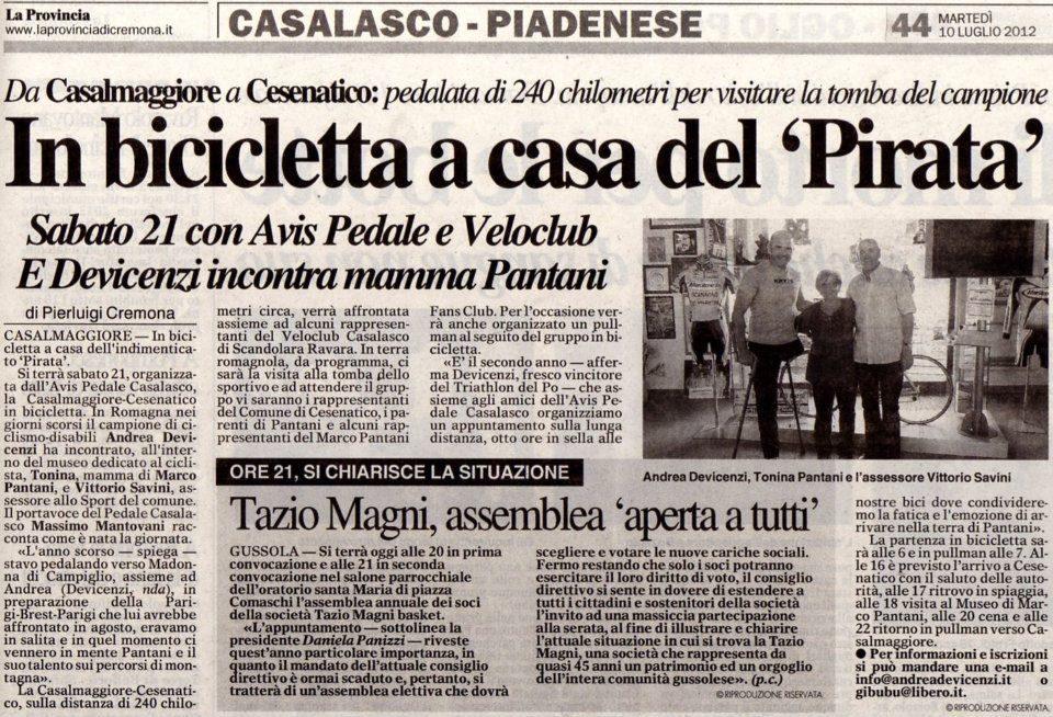 La Provincia – 10/07/2012
