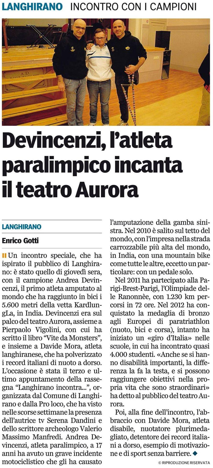 Gazzetta di Parma – 16/01/2016