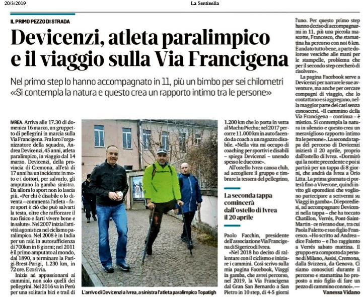 La Sentinella (Ivrea) – 20/03/2019