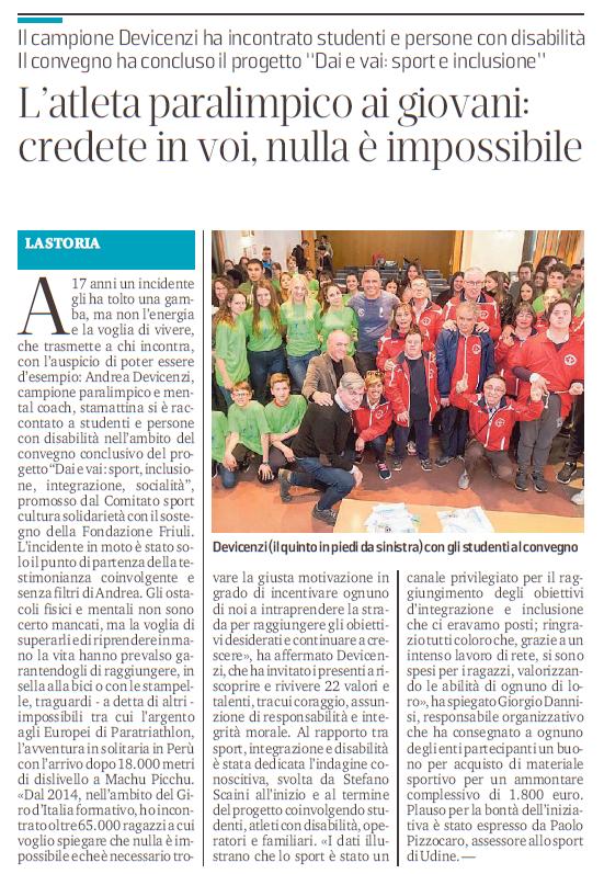 Messaggero Veneto – 18/05/2019