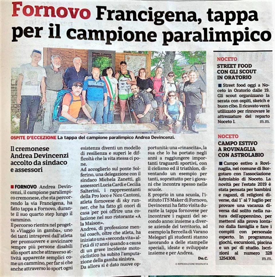Gazzetta di Parma – 12/09/2019