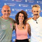 Io, Paola Gianotti, ciclista e Coach e Emilio Previtali, Alpinista e Triathleta.