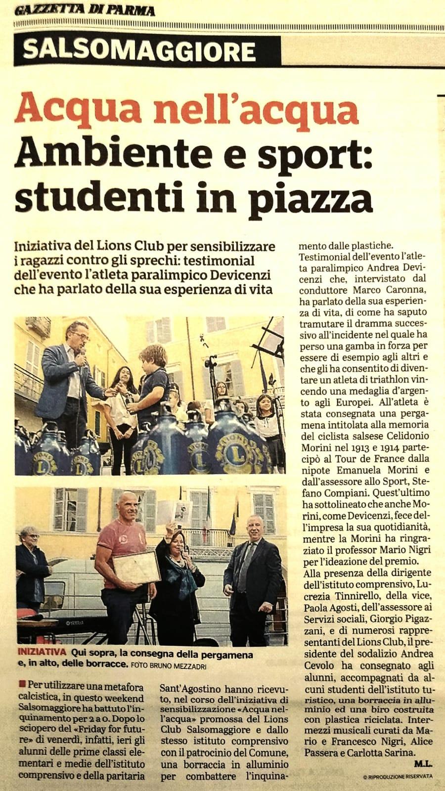 Gazzetta di Parma – 29/09/2019