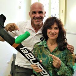 Con l'artista Maddalena Rocco
