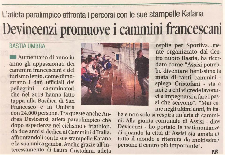 Il Corriere dell'Umbria – 27/02/2020