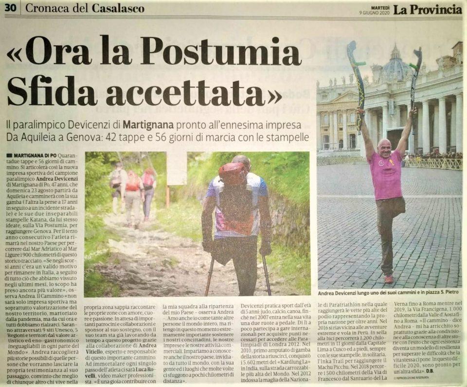 La Provincia di Cremona – 09/06/2020