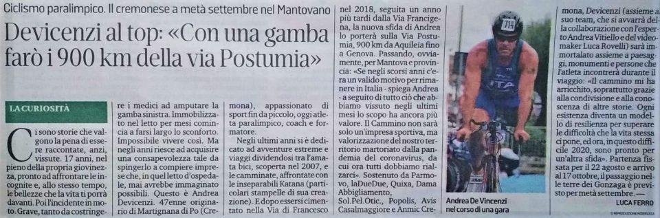 La Gazzetta di Mantova – 15 giugno 2020