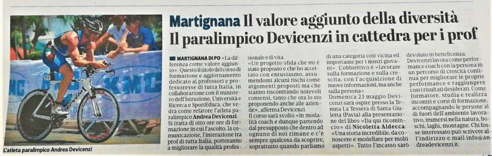 La Provincia di Cremona – 29 aprile 2021