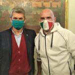 Andrea Devicenzi con Fabrizio Fracassi